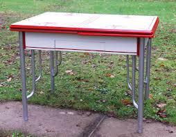 Vintage 1950 S Metal Kitchen Cabinet Enamel Top Ebay by Vintage 1930 U0027s Deco Enamel Porcelain Tin Top Dining Kitchen
