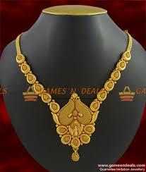 chain necklace gold designs images Nckn264 handmade peacock imitation necklace gold plated matt jpg