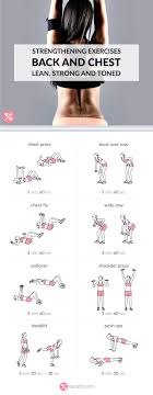 chest and back strengthening exercises exercises routine and workout
