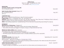 Sample Resume Computer Skills by Terrific Resume Of Computer Science Engineering Student 39 In