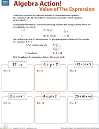 algebra worksheets for 5th grade worksheets