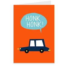 lucie sheridan honk honk car illustrated greeting card fig 1
