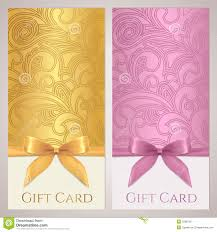 gift certificate gift card coupon template stock image image