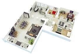three bedroom apartmenthouse plans apartment floor garage small