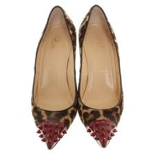 christian louboutin pumps with animal print buy second hand