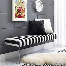 galileo black and white velvet modern living room bench galileo black and white velvet modern living room bench