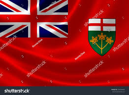 Canadian Provincial Flags 3d Rendering Canadian Provincial Flag Ontario Stock Illustration