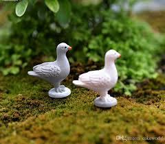 peace dove animal garden ornaments gnomes yard figurines miniature