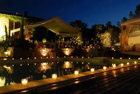 outdoor pool lighting ideas for modern residence design with