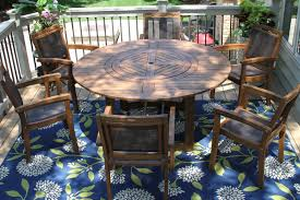 Round Garden Table With Lazy Susan by Round Wooden Garden Table With Lazy Susan Container Gardening Ideas