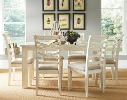 White Dining Room Table by Redondo Vanilla Casual Dining Room Set By Standard Furniture