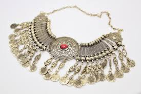 antique necklace chain images Vintage antique gold heavy tribal coin choker collar necklace jpg