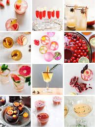 pinning festive cocktails and lemons