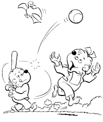 brother and sister berenstain bear play baseball coloring pages