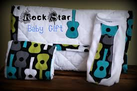 b is for boy baby shower gift rock star style