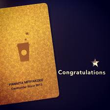 starbuck gold card starbucks card pannita