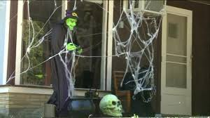 neighborhood upset over offender decorating home for halloween