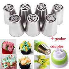 flower decorating tips 7pcs russian tulip flower cake icing piping nozzles decorating