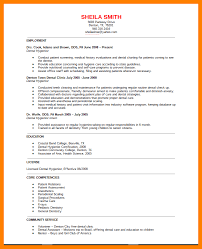 Dental Hygienist Sample Resume by 8 Dental Hygiene Resume Sample Biodate Format