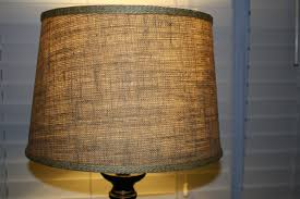 Large Table Lamps Lighting Large 16 Inch Hardback Drum Burlap Lamp Shade In Brown