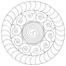 11 images of printable mandala blank coloring page simple