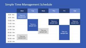 time management weekly planner template week schedule powerpoint template slidemodel