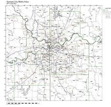 kansas city metro map kc zip code map zip code map