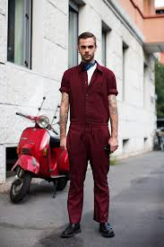 mens jumpsuit fashion on the via fogazzaro milan the sartorialist