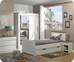 chambre enfant com lit enfant gigogne island blanc 90x190 cm