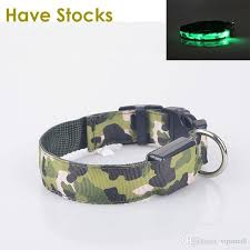 LED Dog Collar For Pet Dogs Light Leads Camouflage Barrack Products