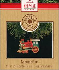 locomotive claus co rr series 1991 hallmark ornament