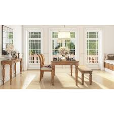 oak dining room set artefama furniture linda distressed oak dining table 5737 0001