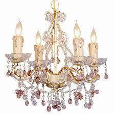 Colored Chandelier Buy 4 Lights Mini Chandelier W Colored Murano