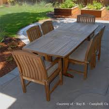 home decor packages 3pc bahama rectangular teak dining table and bench set patio decor
