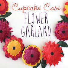 flower garland cupcake flower garland crafts kids