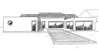 plan maison 4 chambre plan maison en u avec 4 chambres ooreka