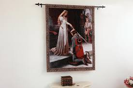 Home Decor Gift The Accolade Medieval Knight Fine Art Tapestry Wall Hanging Home