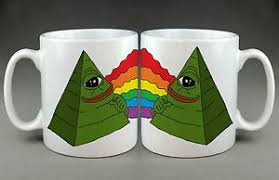 Internet Rainbow Meme - pepe the frog rainbow pyramid ultra rare cartoon internet meme mug