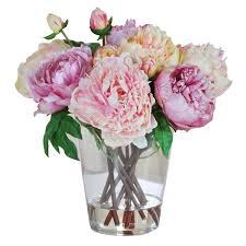 floral arrangement seymour botanicals peonies floral arrangement in glass vase