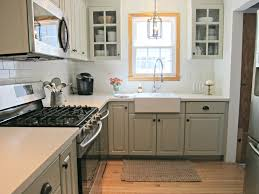 Gray Cabinet Kitchen by Corian Linen Counters Benjamin Moore Senora Gray Cabinets White