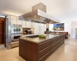 Kitchen Interiors by Elegant Open Kitchen Interior Design With Big Brown Kitchen Island