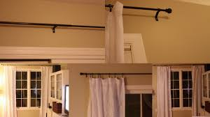 black target curtain rods with white marburn curtains