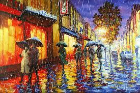 rainbow puddles canvas print canvas art by stanislav sidorov