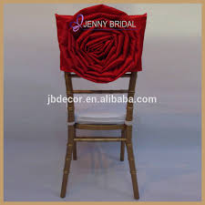 Chair Covers Wholesale C029b Selling Red Rose Flower Chair Cap Covers Wedding Chair