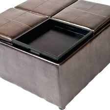 Ottoman Storage Coffee Table Square Tufted Storage Ottoman Coffee Table Brown Square Coffee