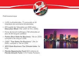 chambre de commerce qu饕ec floride profil de marché et opportunités d affaires avec la floride