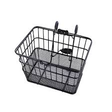 ohuhu front wire mesh bottom lift off bicycle basket black with