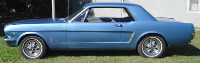 mustang 64 and a half exterior color options with std blue interior 67 mustang vintage