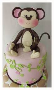 custom monkey cake topper for birthday or baby shower u2026 pinteres u2026