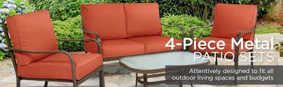 Patio Furniture Couch by Amazon Com Best Choice Products 4 Piece Cushioned Patio